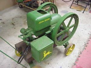 RARE John Deere Hit Miss Engine on Cart Nice for Collector to Get Running