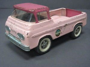 Vintage RARE Buddy L Pink Kennel Truck Pickup Truck Nylint No 6200 Kennels Ford