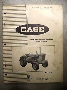 Case 480 Construction King Wheel Tractor Parts Manual Book