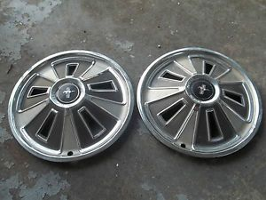 2 1966 66 Ford Mustang Hubcaps Wheel Covers 14 inch GT