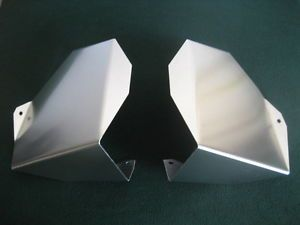 Yamaha Raptor 660 ATV Satin Smooth Finish Aluminum Engine Air Scoops Shrouds