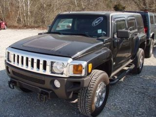 06 Hummer H3 Steering Wheel Black Vinyl No Radio Controls 565360
