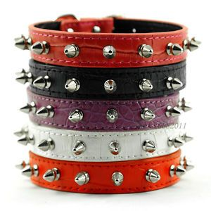 Hot Selling Colorful Cheap Studded Leather Spiked Puppy Dog Collar