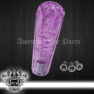 "150mm 6""Long Extended Shift Knob Dildo Diamond Bubble Style VIP JDM Drift Purple"
