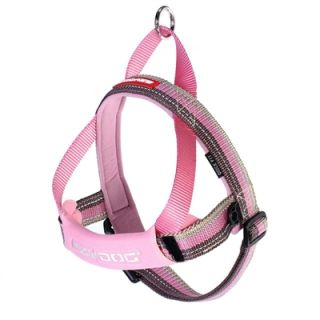 Ezy Dog Quick Fit Dog Harness One Click Adjustable Reflective Candy Pink