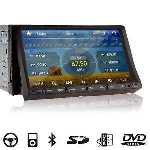 "In Dash 2Din Car DVD Player GPS Navigation Map 7"" HD Touchscreen Radio Bluetooth"