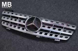 Mercedes Benz W164 06 08 Front Center Grille Silver Ml