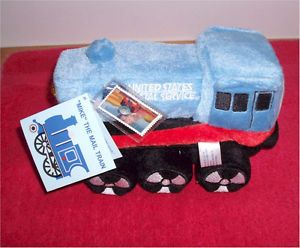 USPS 2003 Daylight Stamp Mike The Mail Train Soft Toy Engine Timeless Toys Inc