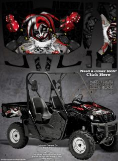 "Yamaha Rhino All Years Graphics ""The Evil Jester"" Black"