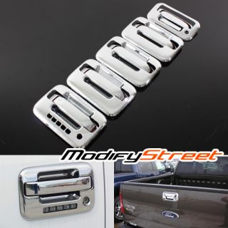 04 12 Ford F150 F 150 4DR Chrome Door Handle Tailgate Rear Glossy Cover Combo