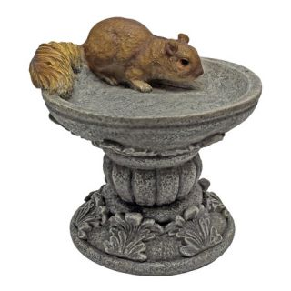 Petite Bird Feeder Squirrel Garden Sculpture Woodland Animal Statue