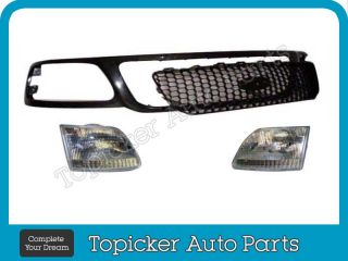1999 2003 Ford F150 F250 Light Duty Grille Black Honeycomb Insert