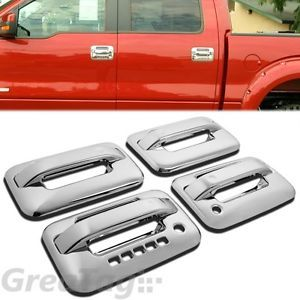 2004 2012 Ford F150 Pickup Truck Chrome Door Handle Cover Trims Keypad w PSKH A
