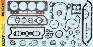 Cadillac 429 1964 1967 Full Gasket Set Best Head Intake Exhaust Oil Pan Gaskets