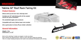 "Yakima 32"" Roof Rack Fairing Kit Wind Deflector"