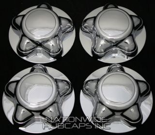 4 Ford F150 Expedition Chrome Wheel Center Hub Caps Rim Covers 5 Lug Bolt Hubs