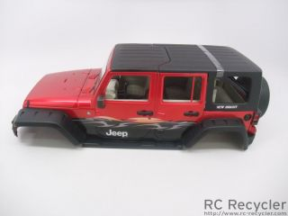 New Bright 1 10 Jeep Wrangler Unlimited Body Scale Rock Crawler Axial SCX10