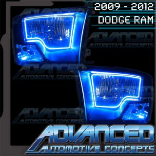 2009 2013 Dodge RAM Non Sport Blue Oracle Brand LED Headlight Halo Kit