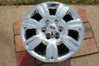 "2009 2012 Ford F150 18"" Factory Chrome Clad Alloy Wheel Rim Cosmetic Damage"