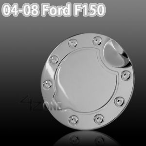 04 05 06 07 08 Ford F150 Fuel Gas Door Cover Cap Chrome Stainless Steel XLT Lt