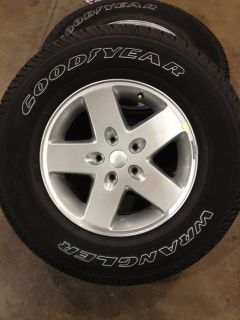 "2007 2014 Jeep Wrangler Unlimited 17"" OE Wheels Tires"