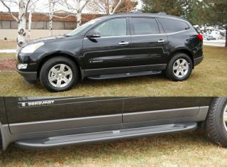 Custom Molded Running Boards 2009 2012 Chevy Traverse Black Factory Style Steps