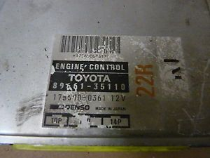 1987 1988 Toyota Pickup 22RE 22R E ECU ECM Engine Computer 89661 35110