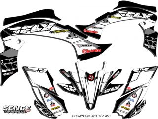 Raptor 350 RAPTOR350 Yamaha Graphics Kit Deco Stickers ATV Quad 4 Wheeler Fly