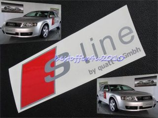 2 Pcs Audi s Line Decal Sticker RS6 S6 S4 A4 S3 TT FSI CD88