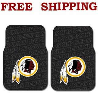 New Set NFL Washington Redskins Car Truck Front Rubber Floor Mats