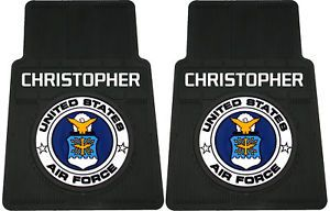 U s United States Air Force Personalized Car Floor Mats