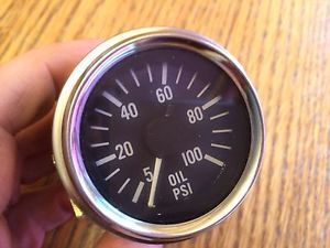 Vintage Stewart Warner Mechanical Oil Pressure 12V Temperature Gauges