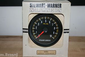 Stewart Warner Mechanical Tach Gauge Meter 82801 Vintage