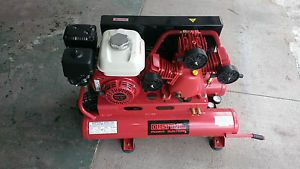 Portable Air Compressor 6 5 HP Honda Engine New Rugged Cast Iron Pump 150 PSI