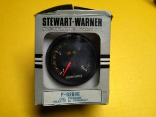 Stewart Warner 2 5 8 Fuel Pressure Gauge Guage Hot Rod Racing