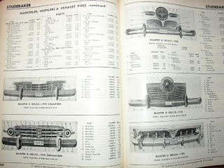 1949 1958 54 55 56 57 Chevy Ford Buick Cadillac Olds Pontiac Mercury Parts Book