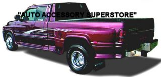 94 02 Dodge RAM Dually Full Flared Running Boards with Molded Fender Flares