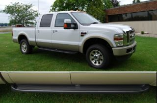 Custom Molded Running Boards 99 2012 Ford F250 F350 Crew Cab Black Truck Steps