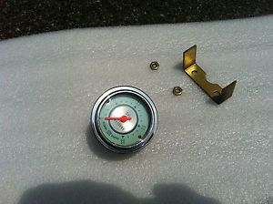 Vintage Stewart Warner Twin Blue Oil Pressure Gauge Very Nice Rat Rod Boat