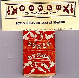 2 Decks 1943 Bowlo Bowling Card Game Ephemera WWII War Vintage Old