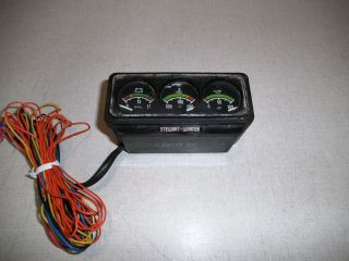 Stewart Warner Mini Gauge Triple Set Rat Rod Hot Rod