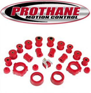 1971 1979 Volkswagen Super Beetle Complete Suspension Bushing Kit Red Poly
