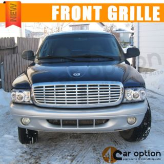 97 04 98 99 00 Dodge Dakota Durango Front Chrome Grill Grille 01 02 03