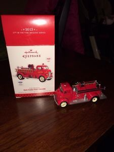 2013 Hallmark Keepsake Ornament Fire Brigade 1941 Ford Fire Engine New in Box