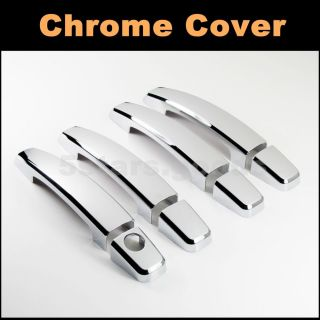 Triple Chrome Door Handle Cover Trim for Chevy Captiva Aveo Camaro Lova Sonic