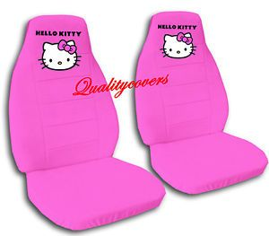 2 Cute Hello Kitty Car Seat Covers Chevy Aveo Velvet Hot Pink
