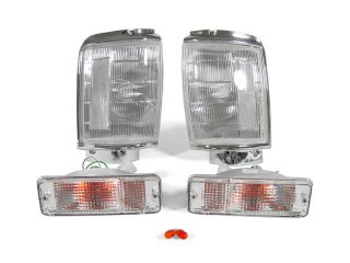 Depo 87 88 Toyota Pickup Truck 4WD Clear Corner Lights Bumper Signal Lights