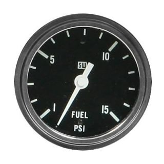 "Stewart Warner Deluxe Series Mechanical Fuel Pressure Gauge 2 5 8"" Dia 82405"