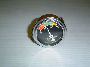 Vintage Stewart Warner SW Vacuum Gauge w Curved Glass 355AZ 4 Parts or Repair
