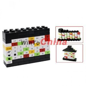 DIY Changeable Perpetual Calendar Building Block Puzzle Bricks